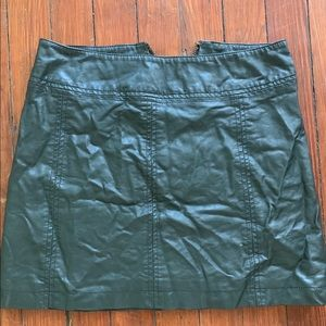 Faux Leather Free People Mini  Skirt